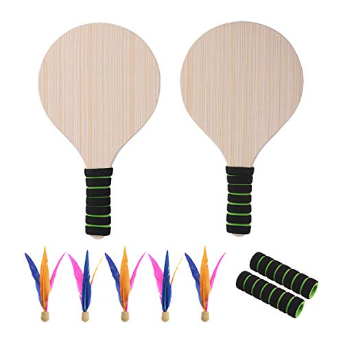 VORCOOL Paddle Ball Racket Game Set Beach Paddle Ball Set Beach Tennis Beach Ball Racket for Kid Adult Indoor Outdoor Game Toys from VORCOOL