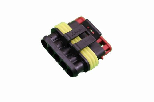 Vs Electronic 325859 Super Seal Housing 5 Pin for Blade Receptacles, 1.5 mm from VS Electronic