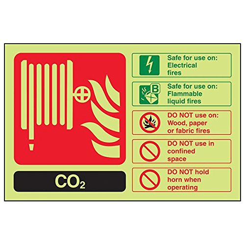 VSafety 11016AL-G'CO2 ID' Sign, Landscape, 150 mm x 100 mm (Pack of 3) from V Safety
