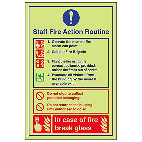 VSafety 12023AU-G'Caravan Site Fire Action' Sign, Portrait, 200 mm x 300 mm (Pack of 3) from V Safety