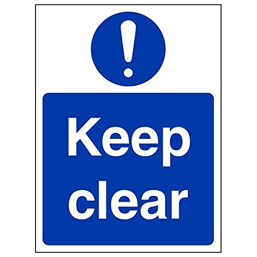 VSafety 18057AN-R'Keep Clear' Sign, Portrait, 150 mm x 200 mm (Pack of 3) from V Safety