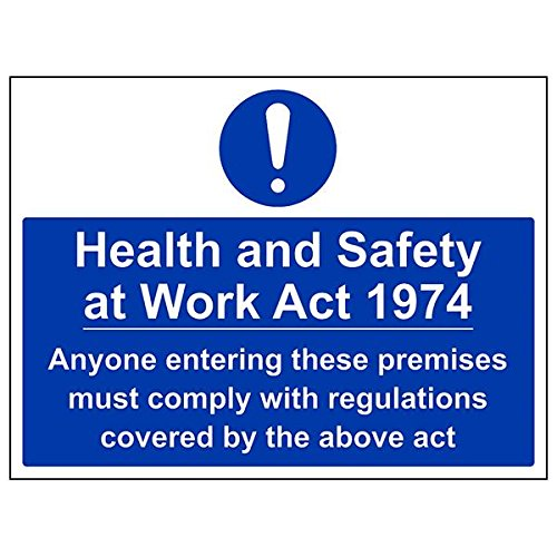 VSafety 41100BF-R'Health And Safety At Work Act 1974' Sign, 400 mm x 300 mm (Pack of 3) from V Safety