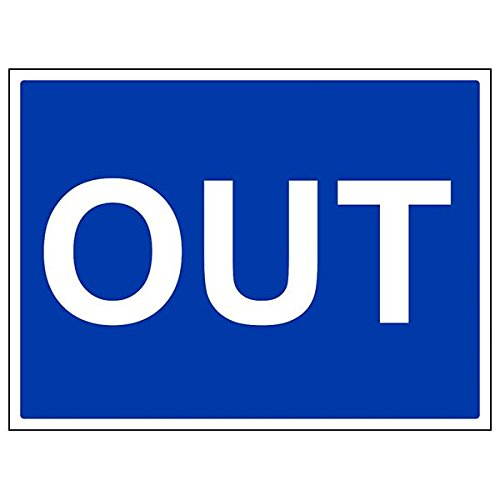 VSafety 43061BF-S'Out' Sign, Landscape, 400 mm x 300 mm (Pack of 3) from V Safety