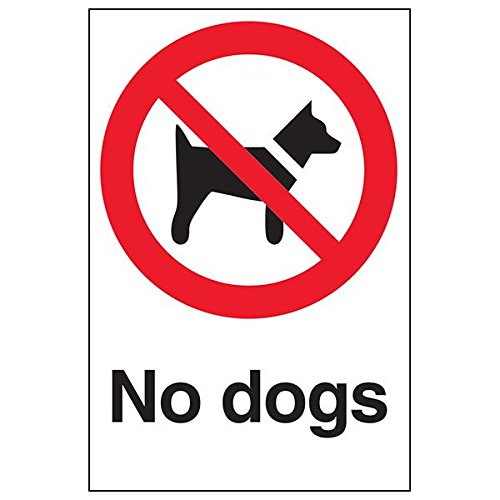 VSafety 54003AU-S'No Dogs' Sign, Portrait, 200 mm x 300 mm (Pack of 3) from V Safety