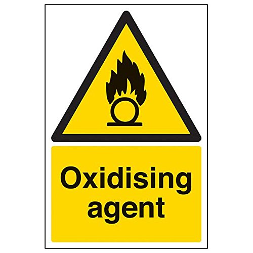 VSafety 69017AU-R'Oxidising Agent' Sign, Portrait, 200 mm x 300 mm (Pack of 3) from V Safety
