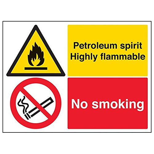 VSafety 69034BF-S'Petroleum Spirit Highly Flammable' Sign, 400 mm x 300 mm (Pack of 3) from V Safety