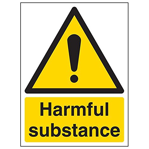 VSafety 6A001AN-R'Harmful Substance' Sign, Portrait, 150 mm x 200 mm (Pack of 3) from V Safety