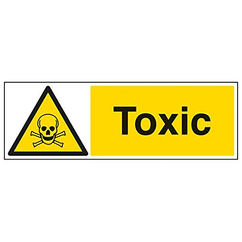 VSafety 6A054BP-S'Toxic' Sign, Landscape, 600 mm x 200 mm (Pack of 3) from V Safety