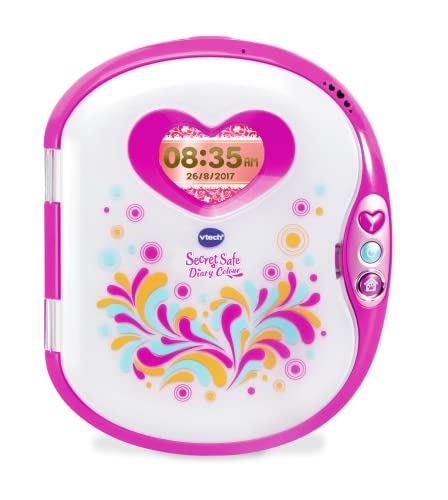 VTech Pink Secret Safe Girls Diary Colour| Secret Diary for Girls, Educational Toy with Games, MP3 Connection & More | Gifts for Girls Age 5, 6, 7+ Year Olds, Pink from VTech