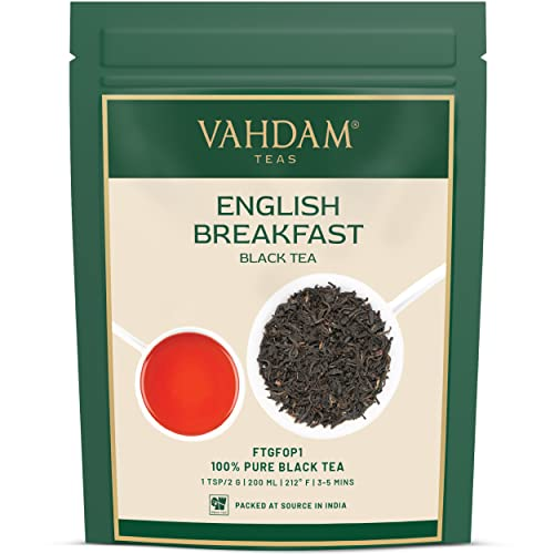Original English Breakfast Black Tea Leaves, (200+ Cups) 454g | Strong, Rich & Aromatic | Loose Leaf Tea, World's Finest Black Tea Loose Leaf | Brew Hot, Iced or Kombucha Tea, FTGFOP1 Long Leaf Grade from VAHDAM