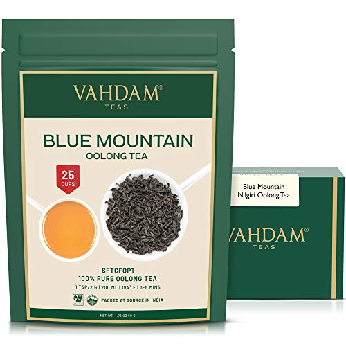 Imperial Oolong Tea Leaves from the Blue Mountains, (25 Cups) 50g | Oolong Tea for Weight Loss | Detox Tea, Slimming Tea, Weight Loss Tea | Brew Hot Tea, Iced Tea, Kombucha Tea from VAHDAM