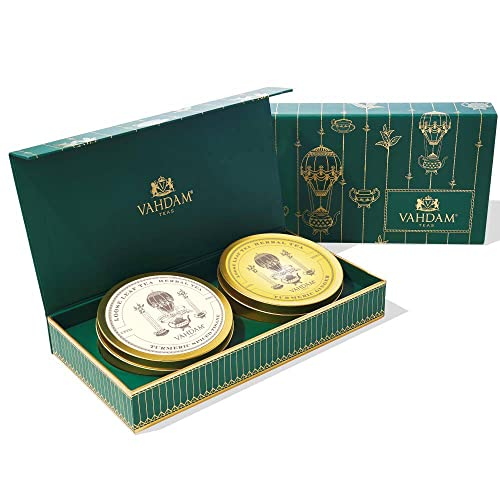VAHDAM, Tea Master's Duo - Best Tea Gift Set  | 2 Award Winning Blends in a Presentation Box | Oprah'S Favorite Tea Brand Gifts - Perfect Gift for Him from VAHDAM