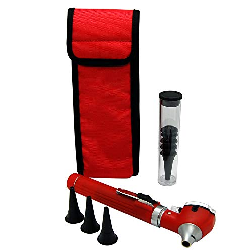 Valuemed ® Fibre Optic Pocket Otoscope Specula in 10's 20's 100's and 300 PCE Packs (Red Otoscope) from Valuemed