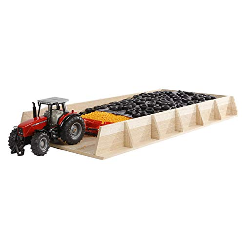 Kids Globe Giant Wooden Tractor Driving Silo (Silo, Driving Silo, Toy Warehouse), Size 30 x 60 x 6 cm, Scale 1:32 from Van Manen