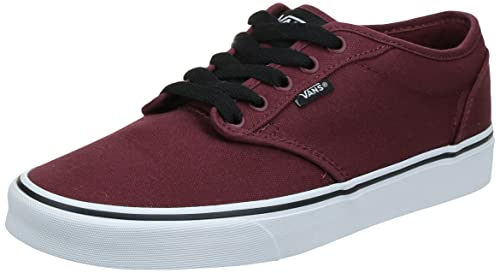 Vans Men's Atwood Canvas Low-Top Sneakers, Red (Oxblood/White), 9.5 UK (44 EU) from Vans