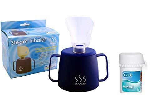 Medisure Steam Inhaler Cup for Sinus Relief With Menthol Crystals (5g) Steam Inhaler for Colds Helps relieve the symptoms of coughs, colds, flu and blocked sinuses from Various