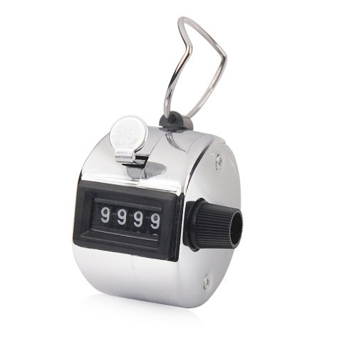 Tally Counter Hand Held Clicker 4 Digit Chrome Palm Golf People Counting Club from Various