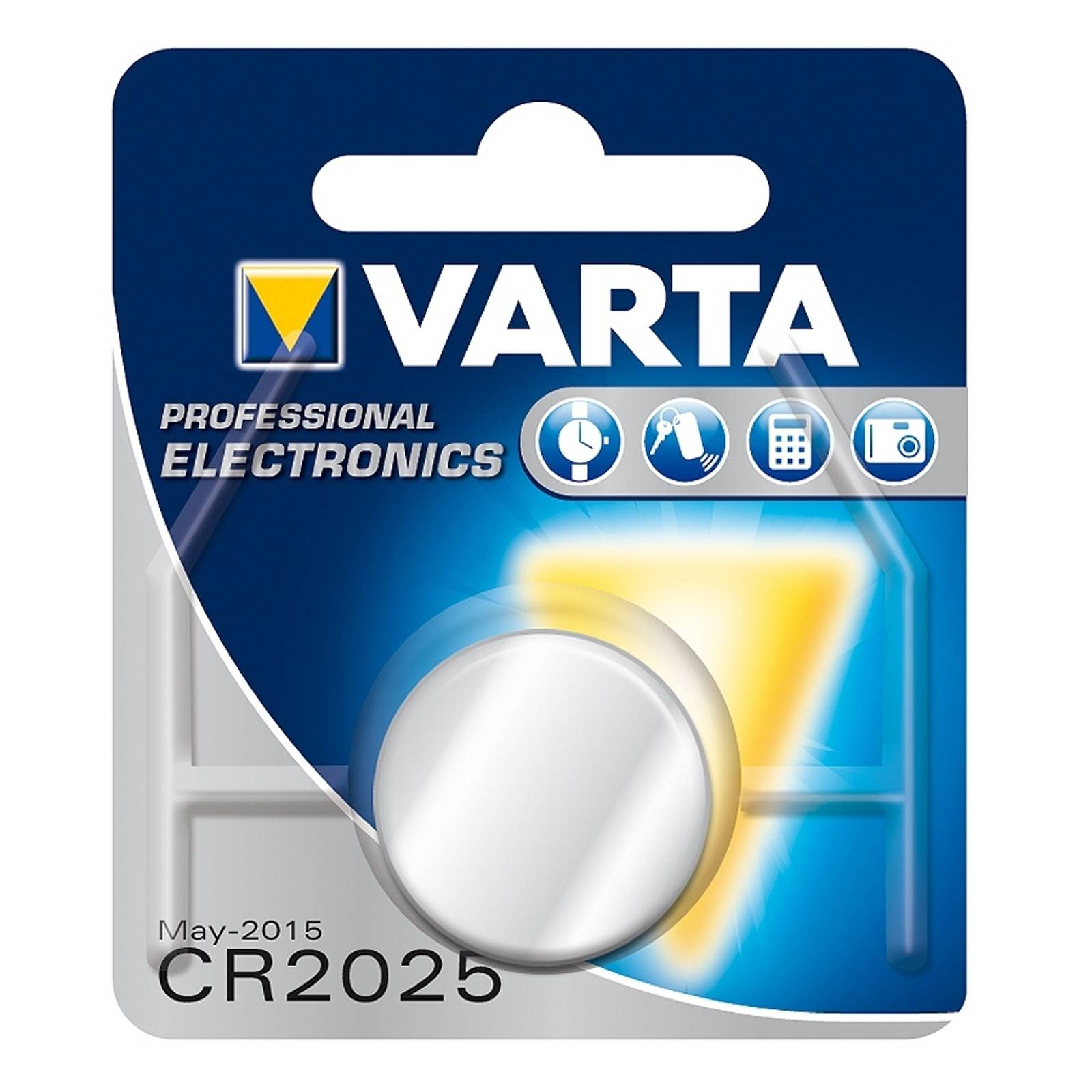 CR2025 3 V 165 mAh lithium button cell from Varta