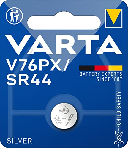 Varta V76PX/ SR44 Silver Battery - Pack of 1 from Varta