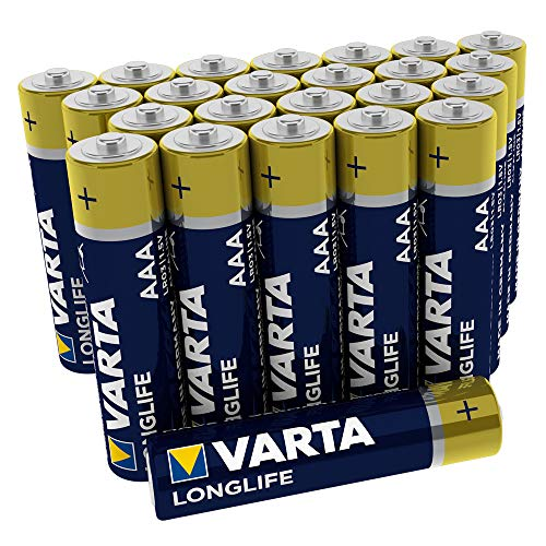 Varta AAA Alkaline Battery Pack of 24 - Longlife Big Box from Varta