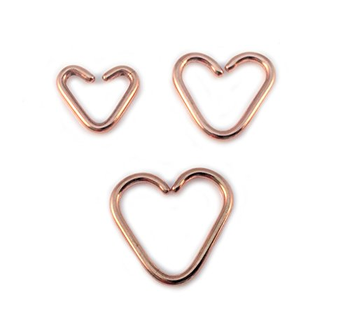 Vault 101 Limited 10mm - Rose Gold Daith Heart from Vault 101 Limited