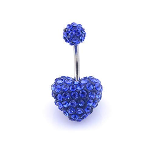 Vault 101 Limited Multi Crystal Heart Shamballa - Sapphire Blue from Vault 101 Limited
