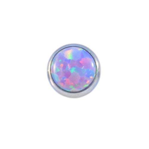 Purple FLAT OPAL TOP - 1.2mm x 6mm from Vault 101 Limited