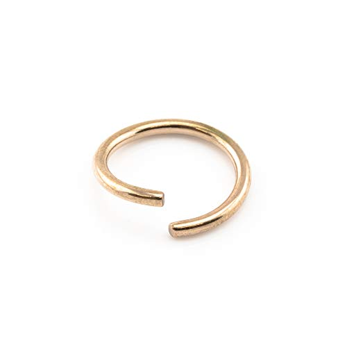 Vault 101 Limited Rose Gold Fake Piercing Ring - 1.0mm x 10mm from Vault 101 Limited