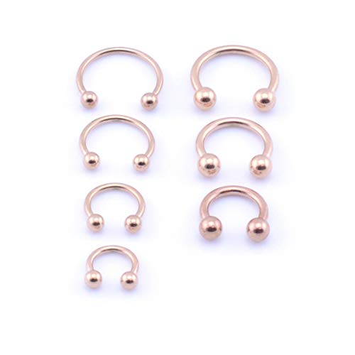 Vault 101 Limited Rose Gold Horseshoe 1.6mm x 10mm with Balls from Vault 101 Limited
