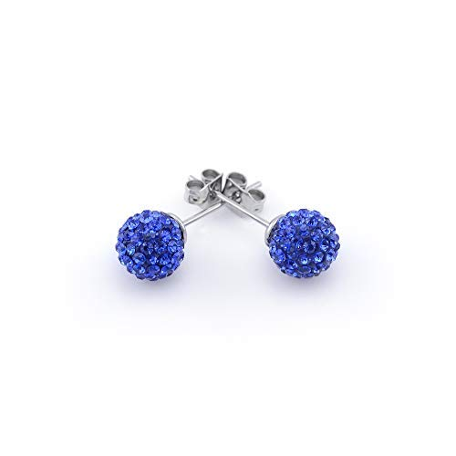 Vault 101 Limited SHAMBALLA Ear Studs - Sapphire Blue from Vault 101 Limited