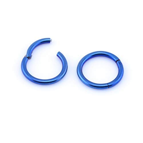 Vault 101 Limited Blue HINGED Segment Ring - 1.2mm(16ga) x 8mm from Vault 101 Limited