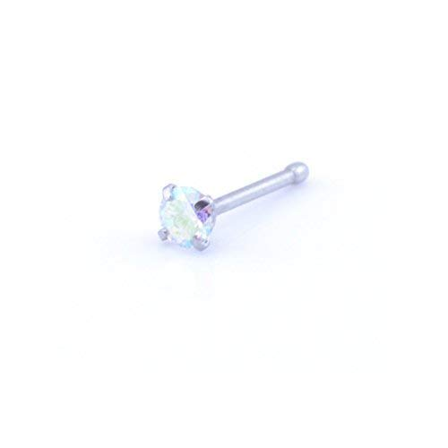 Vault 101 Limited Claw Set Gem Nose Stud - Straight Pin - Crystal AB from Vault 101 Limited