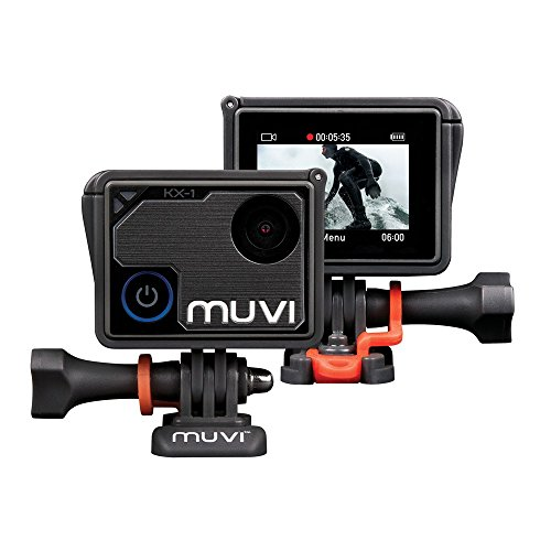 Veho Muvi KX-1 Action Camera | KX-Series | Handsfree Camcorder | WiFi | 4k Action Cam | 12MP Photo | Waterproof Housing | LCD Touch Screen (VCC-008-KX1) from Veho