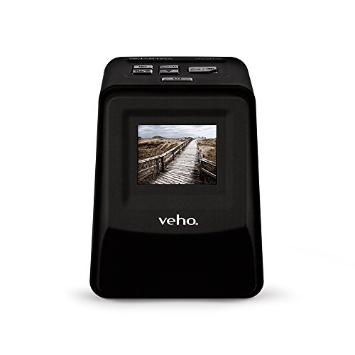 "Veho Smartfix Portable Stand Alone 14 Megapixel Negative Film & Slide Scanner with 2.4"" Digital Screen and 135 Slider Tray for 135/110/126 Negatives Compatible with Mac/PC - Black (VFS-014-SF) from Veho"