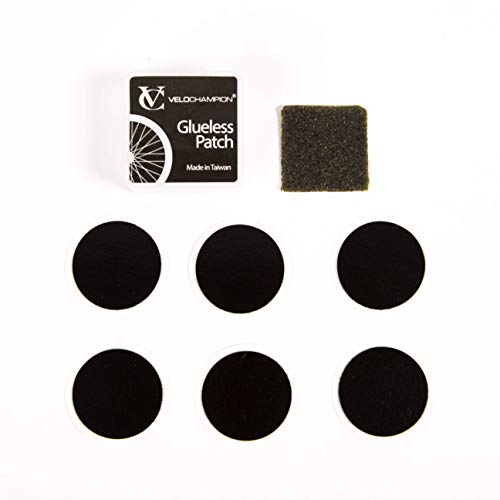 VeloChampion Lightweight Bike Puncture Repair Glueless Patches Self-Adhesive Kit (Pack of 6) from VeloChampion