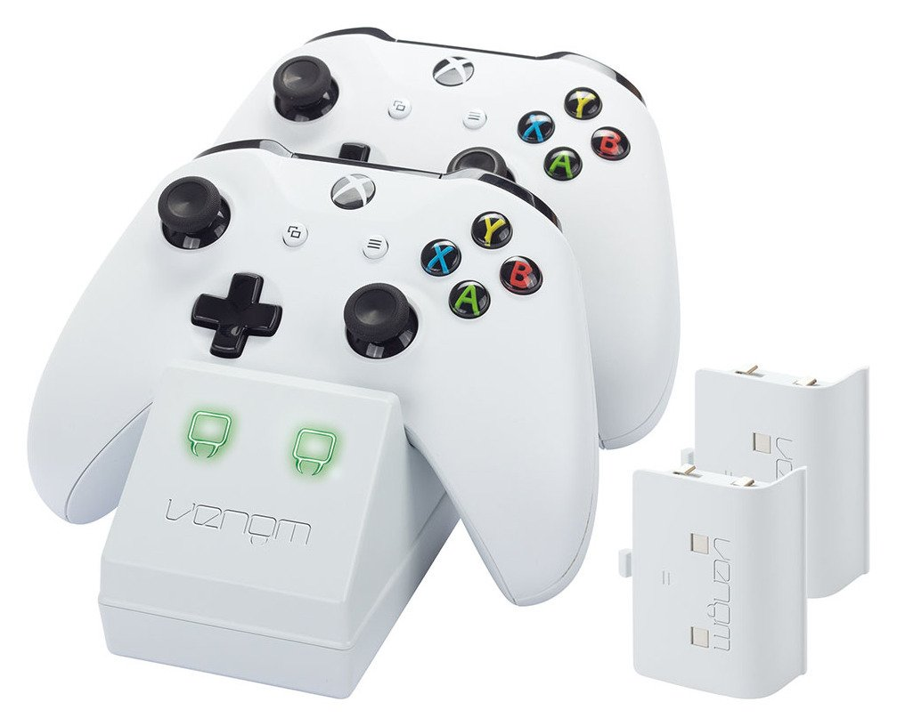 Venom Twin Docking Station for Xbox One - White from Venom