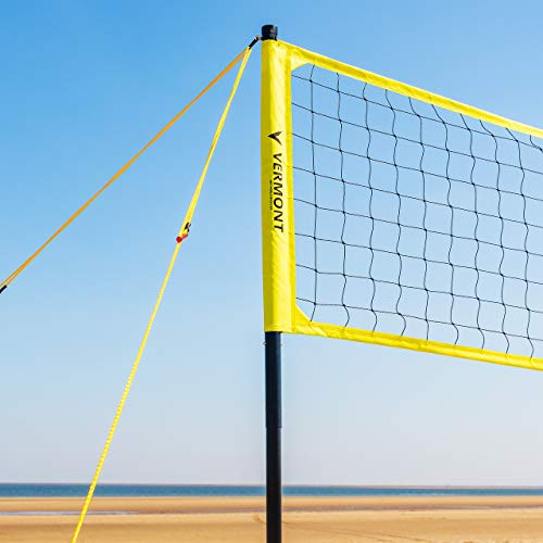 Vermont Portable Volleyball Set - Aluminium Telescopic Posts - Carry Bag Included (Beach Set) from Vermont