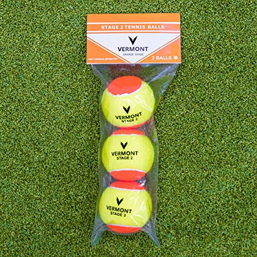 Vermont Tennis Ball Buckets | Training Tennis Balls - ITF Approved Mini Tennis Balls [All Court Surfaces] from Vermont