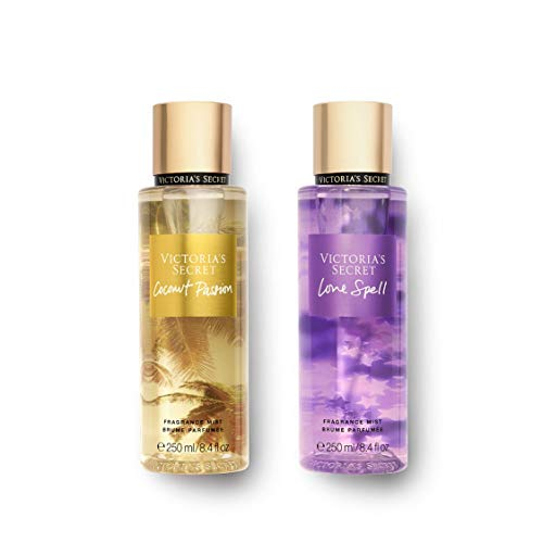 Set of 2 Victoria's Secret Coconut Passion & Love Spell Body Mist 250ml each 8.4 oz from Victoria's Secret
