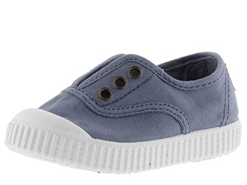 Victoria Unisex Kids' Inglesa Lona Tintada Punt. Low-Top Sneakers Shoes, Blue (Azul), 33 from victoria