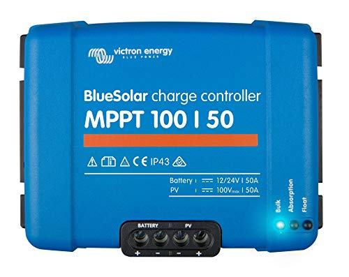 Victron Energy Blues OLAR 50 Amp solar charge controller MPPT 100/50 12 – 24 V Pack of Direct 1 Pieces, SCC020050200 from Victron Energy