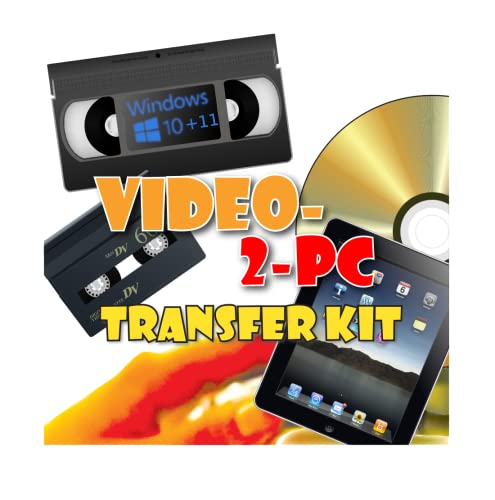 Video-2-PC DIY Video Capture Kit. For Windows 10, 8.1, 8, and 7. Links your VCR or Camcorder to the USB port on your PC. Copy, convert, transfer: VHS, Video-8, VHS-C, Hi8, Digital8, and MiniDV video tapes to digital format H.264, MPEG, MPEG-2, MPEG-4, YUV422 AVI files and burn to DVD. Tested with Windows 10, 8.1, 8 and 7. from Video-2-PC