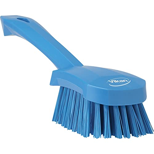 "Vikan 41923 Heavy Duty Sweep Hand Brush, Polypropylene, Polyester Stiff Bristle, 10"", Blue from Vikan"