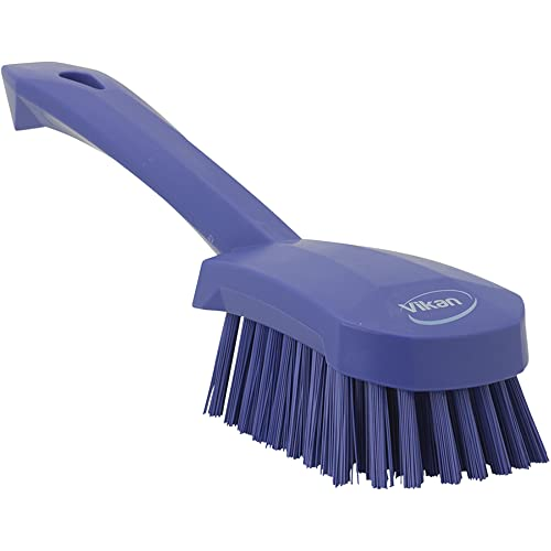"Vikan 41928 Coarse/Fine Sweep Hand Brush, Polypropylene, Polyester Bristle, 10"", Purple from Vikan"