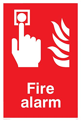 "Viking Signs FV353-A6P-V ""Fire Alarm"" Sign, Vinyl/Sticker, 100 mm H x 150 mm W from Viking Signs"