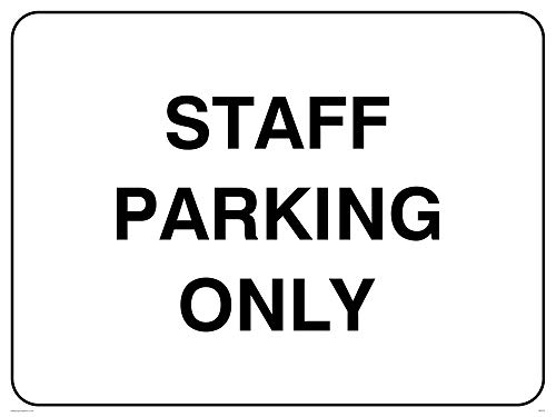 "Viking Signs IR5275-A1L-AC""Staff Parking Only"" Sign, Aluminium Composite, 600 mm H x 800 mm W from Viking Signs"