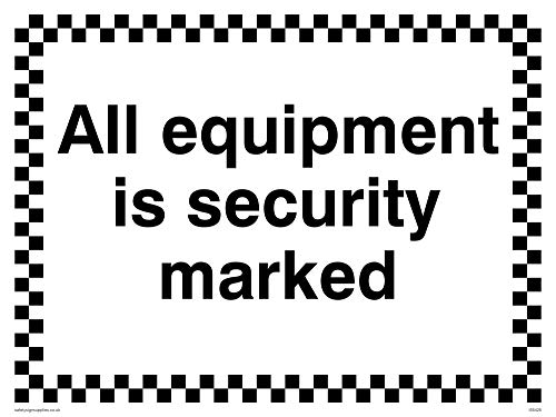 "Viking Signs IS5425-A3L-3M""All Equipment Is Security Marked"" Sign, 3 mm Plastic Rigid, 300 mm H x 400 mm W from Viking Signs"