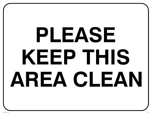 "Viking Signs IV5297-A3L-AC""Please Keep This Area Clean"" Sign, Aluminium Composite, 300 mm H x 400 mm W from Viking Signs"