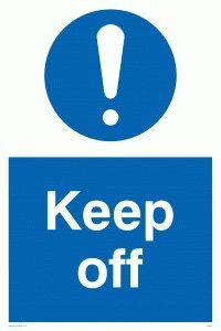 "Viking Signs MC518-A1P-3M ""Keep Off"" Sign, 3 mm Plastic Rigid, 800 mm H x 600 mm W from Viking Signs"