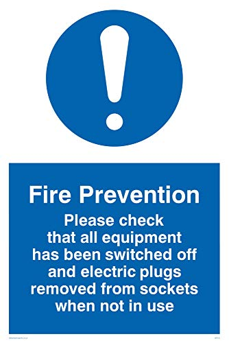 Viking Signs MF312-A4P-3M Fire Prevention Measures Sign, Plastic, 3 mm Rigid, 300 mm H x 200 mm W from Viking Signs